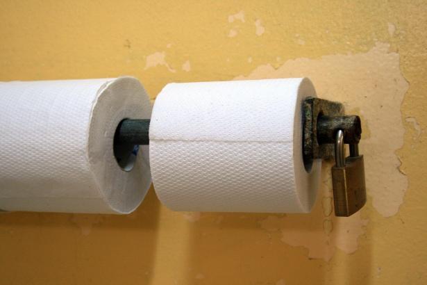 WC Papier op slot